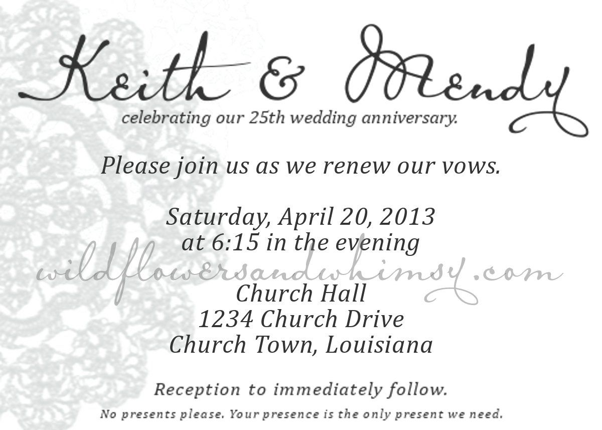 DIY Vow Renewal Invites A Free Download