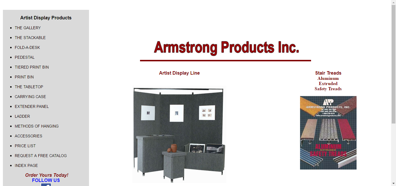 Armstrong Products, Inc. Art, Craft And Trade Show Portable Display Panels.  Safety · Portable DisplayStair TreadsTrade ...