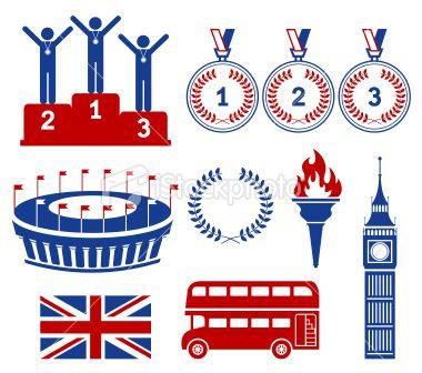 Icons- London Games Royalty Free Stock Vector Art Illustration