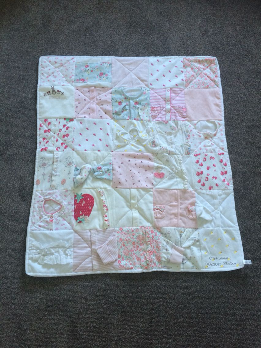Memory quilt made from baby clothes www.sewsewchic.co.uk ... : quilts made from baby clothes uk - Adamdwight.com