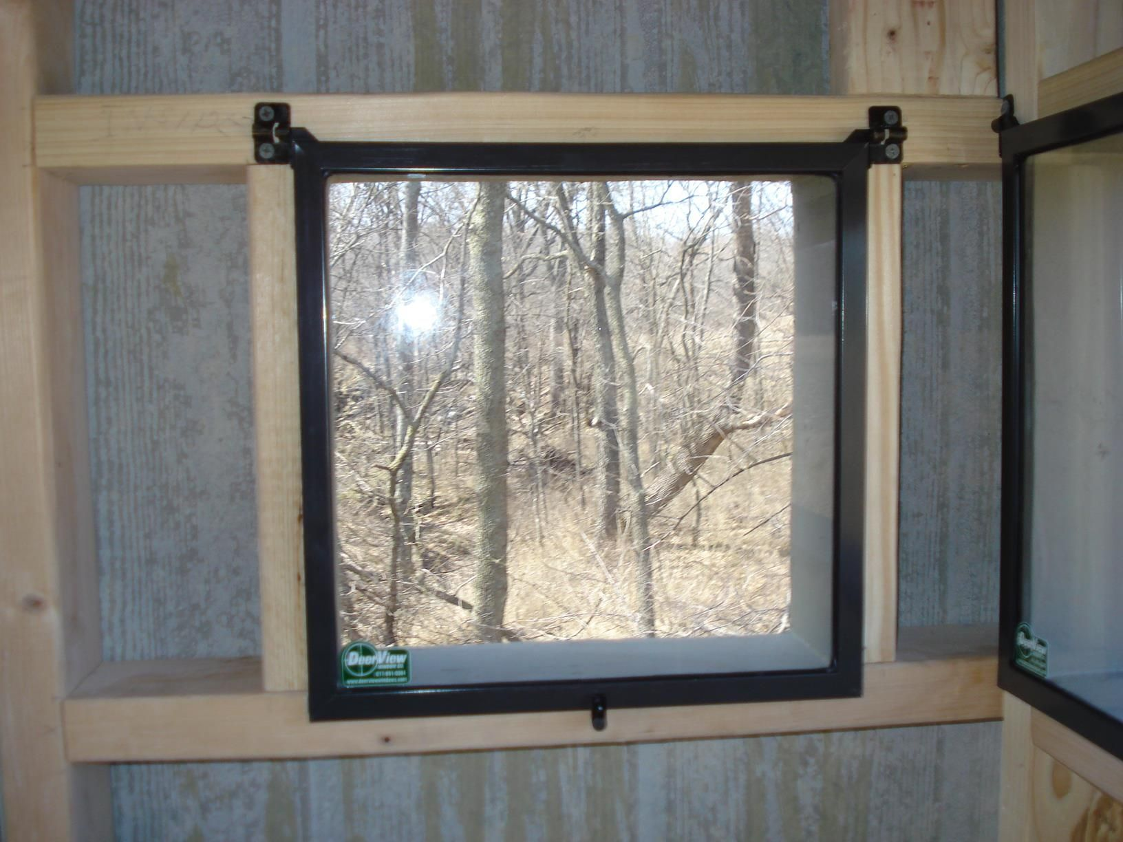 x stands throughout hunting window deer elevated and blind windows blinds dimensions box