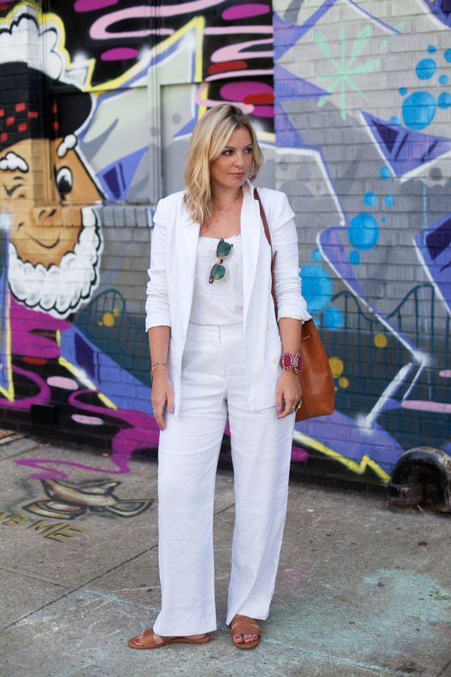 Ye White Pantsuit (The Not Vanilla) #whitepantsuit Ye White Pantsuit #whitepantsuit