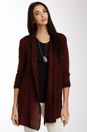 Vip Rib Detailed Open Cardigan by Carducci on @HauteLook