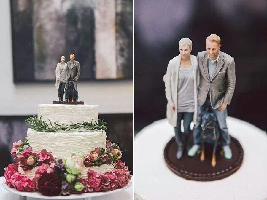 Hochzeitstortenfiguren 3d drucker