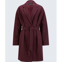 Photo of Textured short coat in Bordeaux windsor