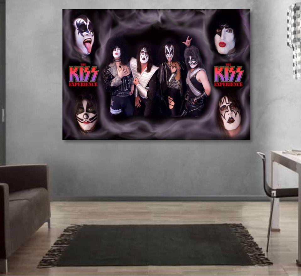 Art print POSTER Canvas Rock Band Kiss