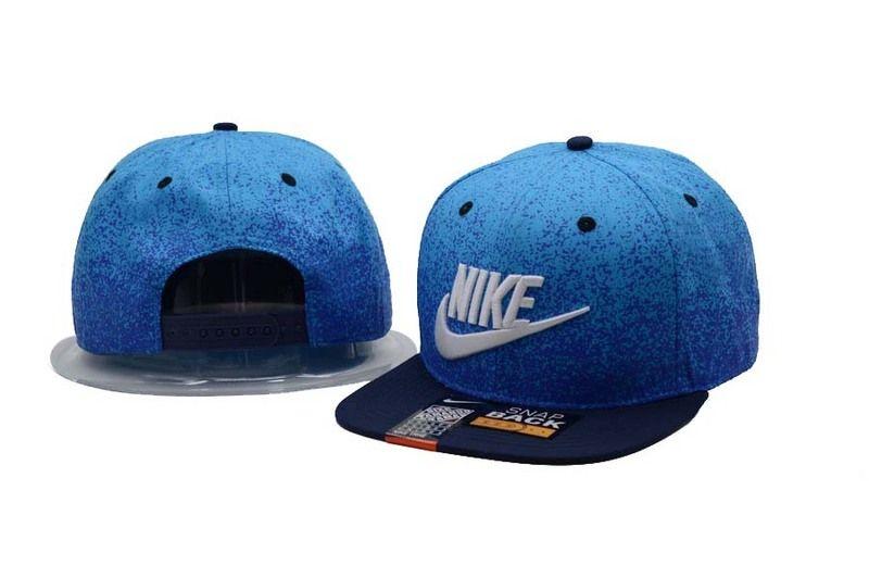 c0abb366fcb Men s Nike Futura True Nike Logo Embroidery Paint Splatter Snapback Hat -  Blue   Black