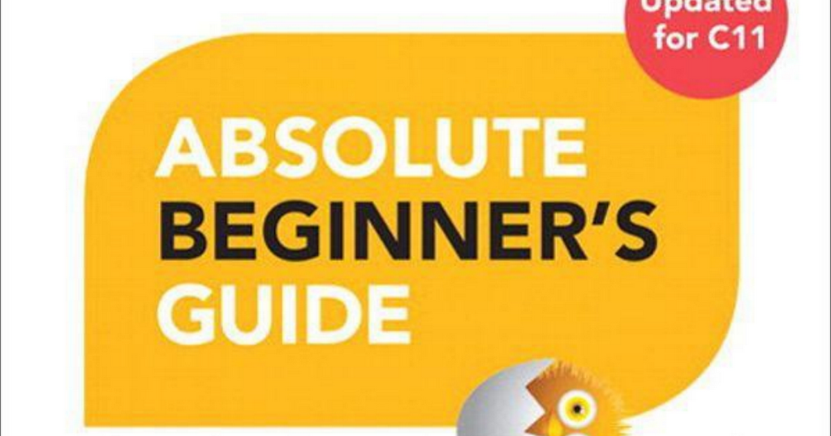 C Programming Absolute Beginner's Guide (3rd Edition) pdf