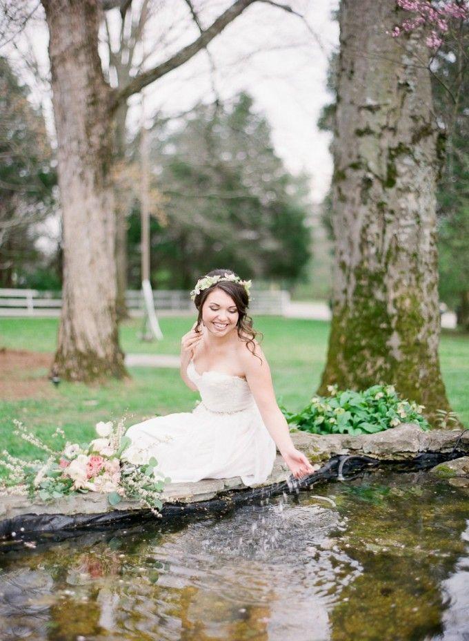 A little wishing pond joy #cedarwoodweddings Cedarwood Spring Style on Style Me Pretty with Julie Paisley | Cedarwood Weddings