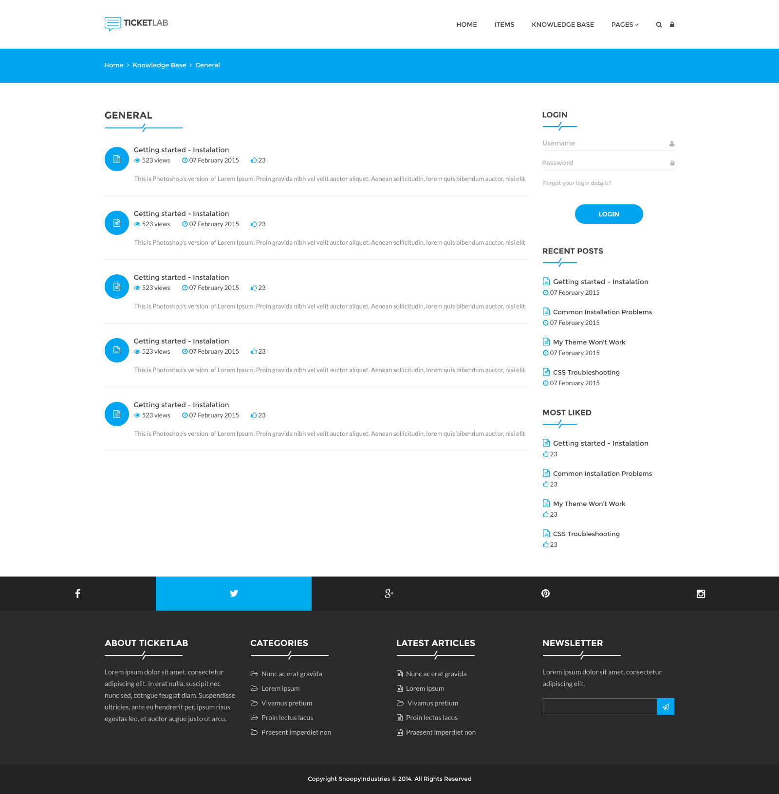 TicketLab Helpdesk, Support, and Knowledge Base PSD