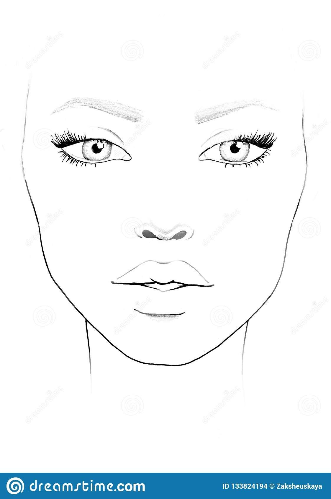 Blank Face Chart To Print Face Chart Makeup Artist Blank ...