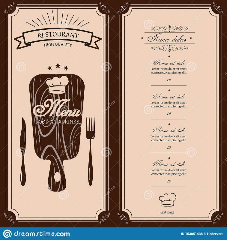 Free Printable Dinner Menu Template Unique Restaurant Menu Template Vector Menu Brochure For Cafe Restaurant Menu Template Menu Template Menu Restaurant