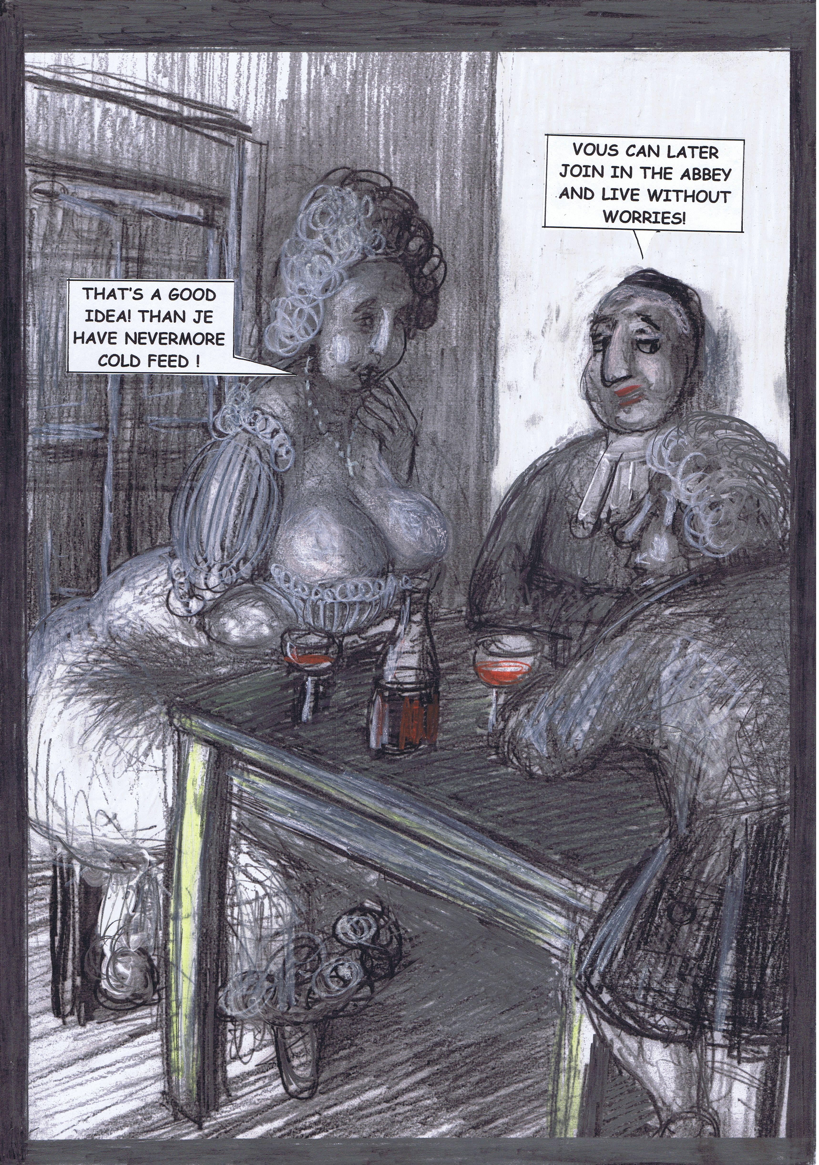 Seite 38 - Marianne findet das behagliche Kloster verlockend