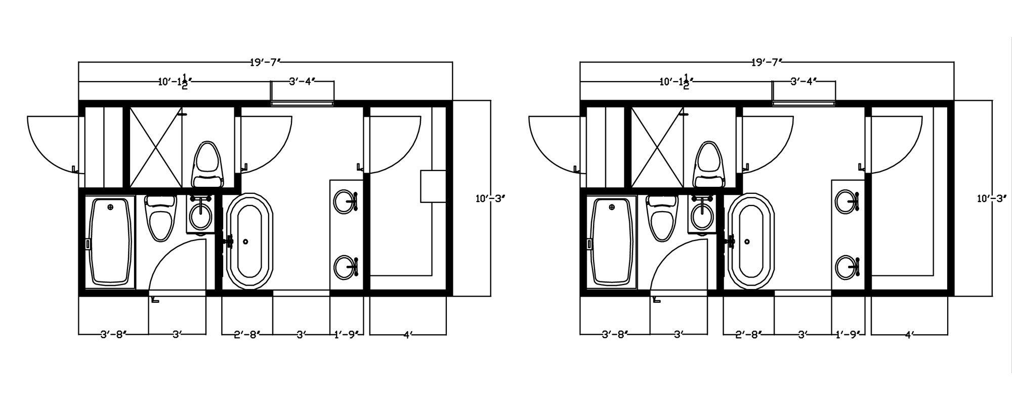 10X12 Master Bath Floor Plans