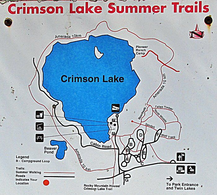 crimson lake campground map Amerada Trail Crimson Lake Provincial Park Rocky Mountain House crimson lake campground map