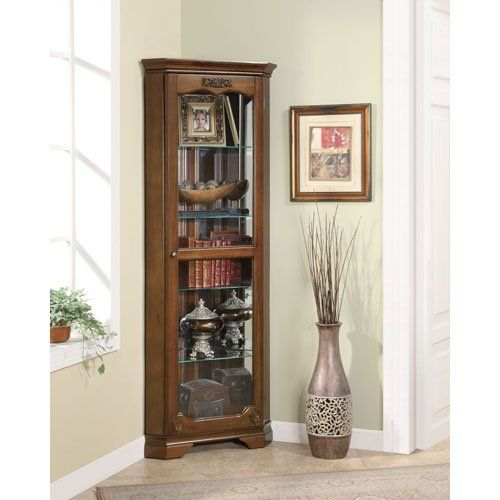 coaster curio cabinet in cherry with glass door 950195 coaster rh pinterest com
