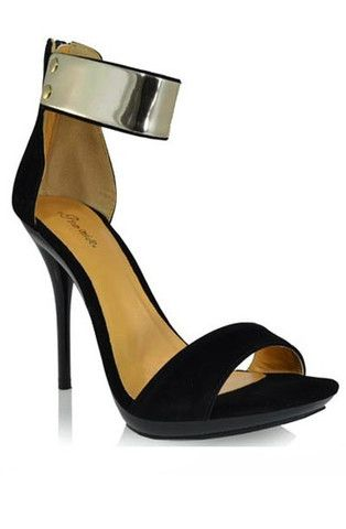 Joanna Gold Ankle Cuff Heels - Black - $40.00 | Daily Chic Shoes | International Shipping