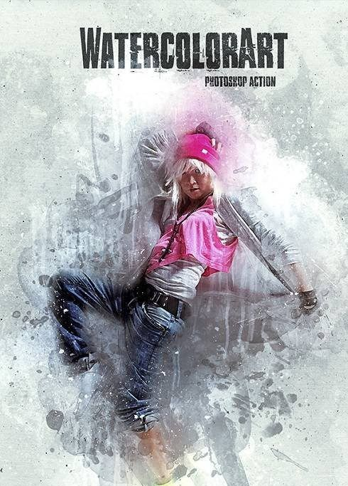 WatercolorArt Photoshop Action 18309980 free download