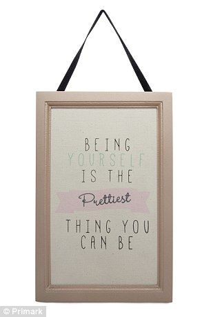 Evie i added this from primark, how fab is this, would look gr8 in your room and spot on!Gabriella has designed a framed quote for her Primark range, which is £4...