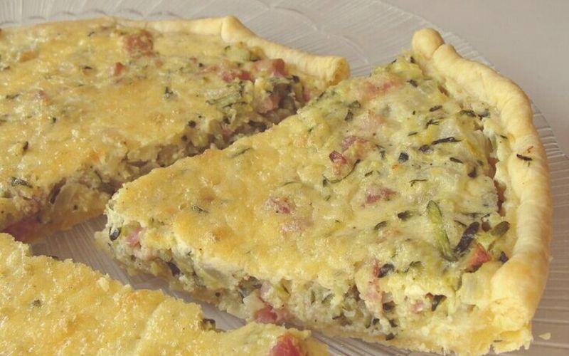 Recette Tarte Courgettes Lardons Pas Chere Et Simple Cuisine