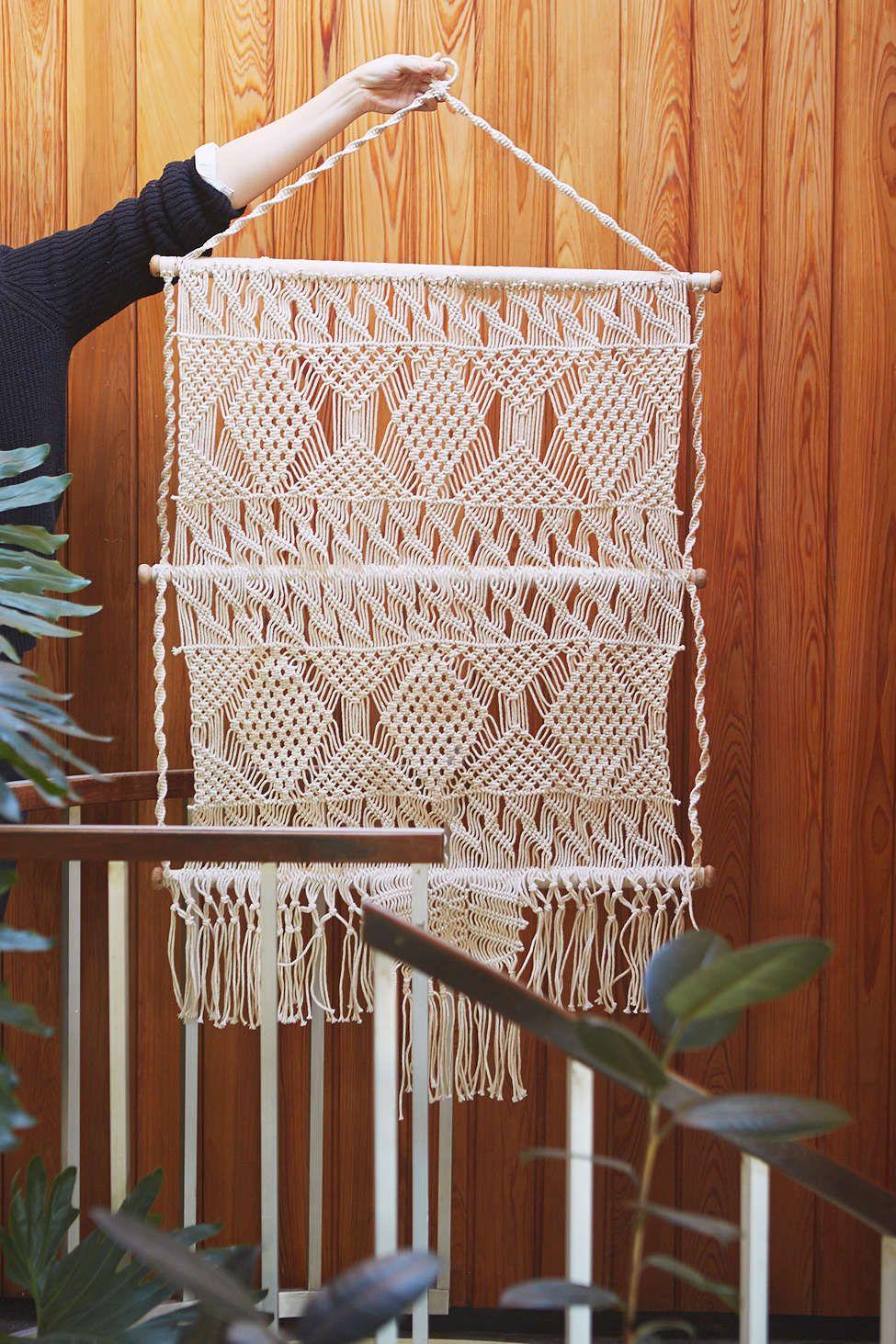 Magical Thinking Tiva Macrame Wall Hanging Macrame