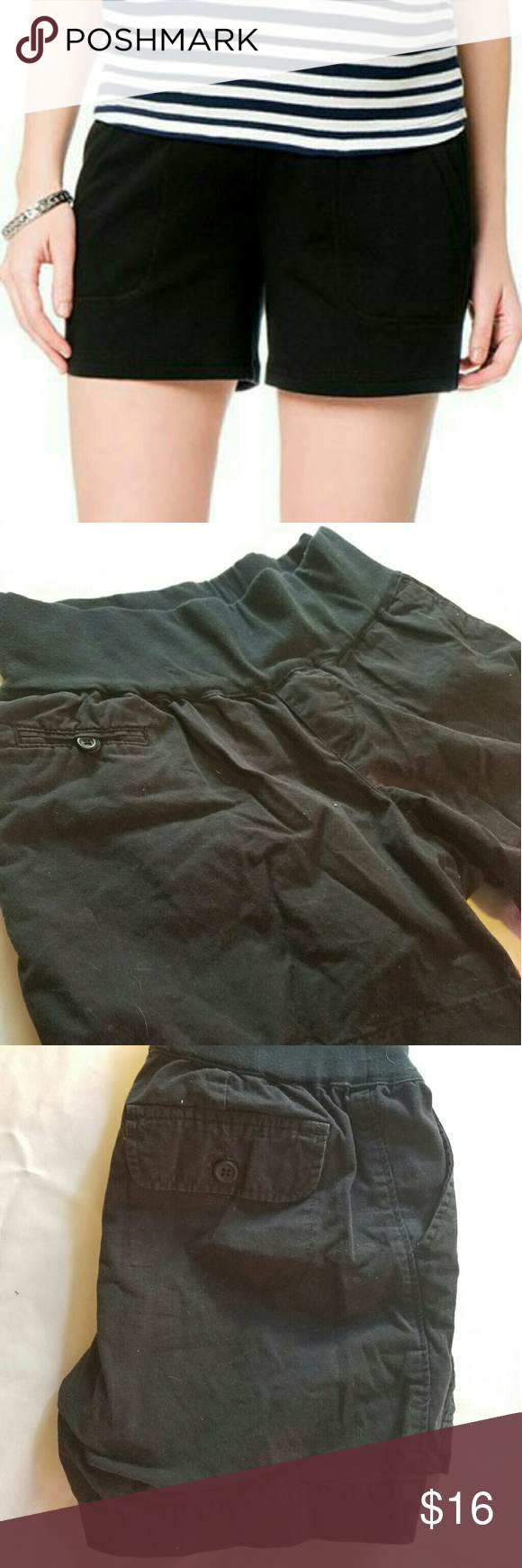 Liz Lange Maternity Shorts Black - Under the belly Extremely comfortable, all black maternity shorts from Liz Lange.  Size XS, stretchy and fit me just fine. I'm a small/medium. Liz Lange Shorts