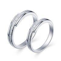 Wish   18K White Gold Plated  *** 2 pcs. set ***  Art. RJ034 Couple Ring