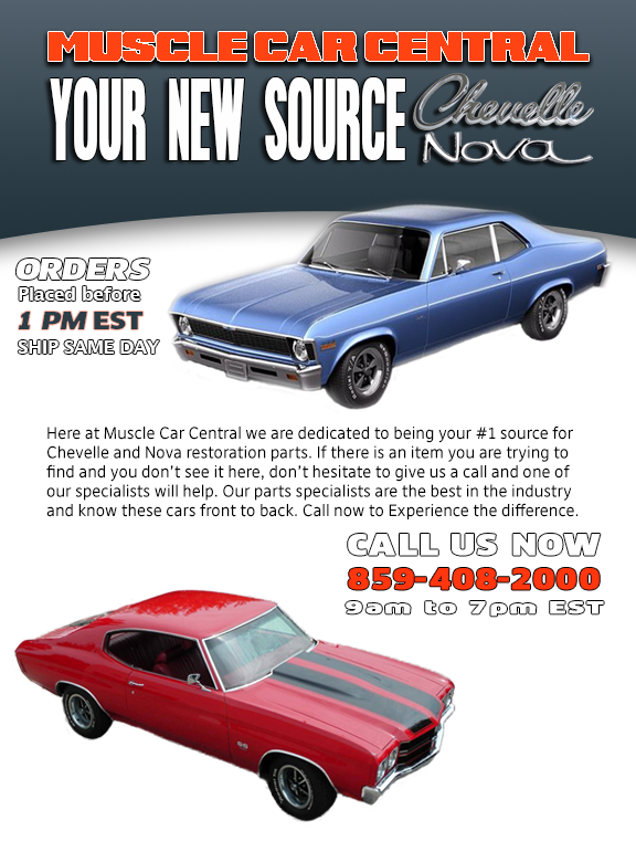 Muscle Car Central Nova And Chevelle Parts Chevelle Muscle Cars Muscle