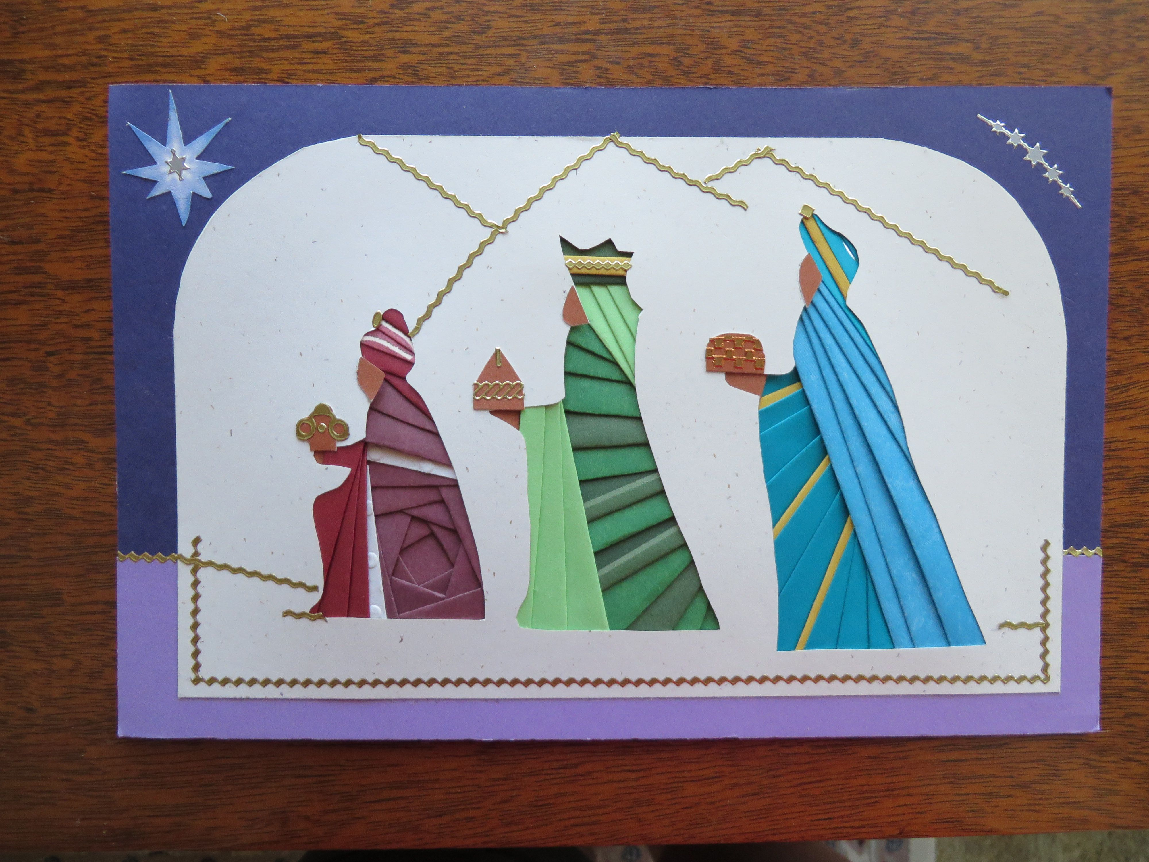 3 Wise Men From Silvia Griffin Pattern- Card By Cindy M