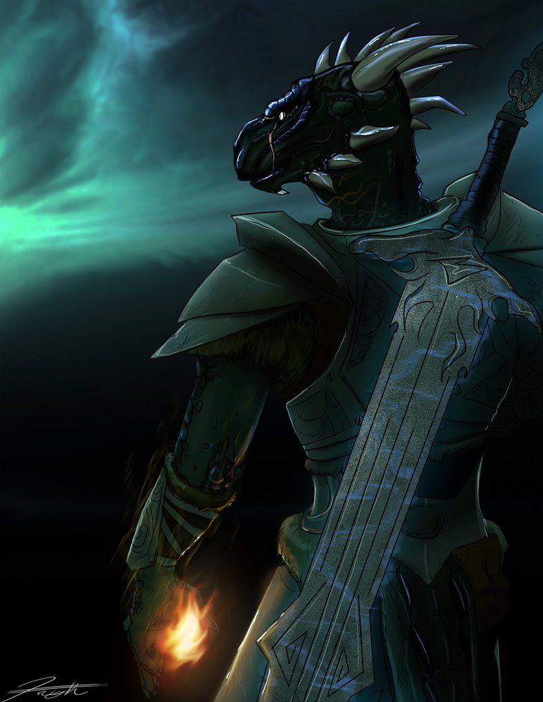 Skyrim Argonian Knight Theif By Djcoulz On Deviantart Skyrim