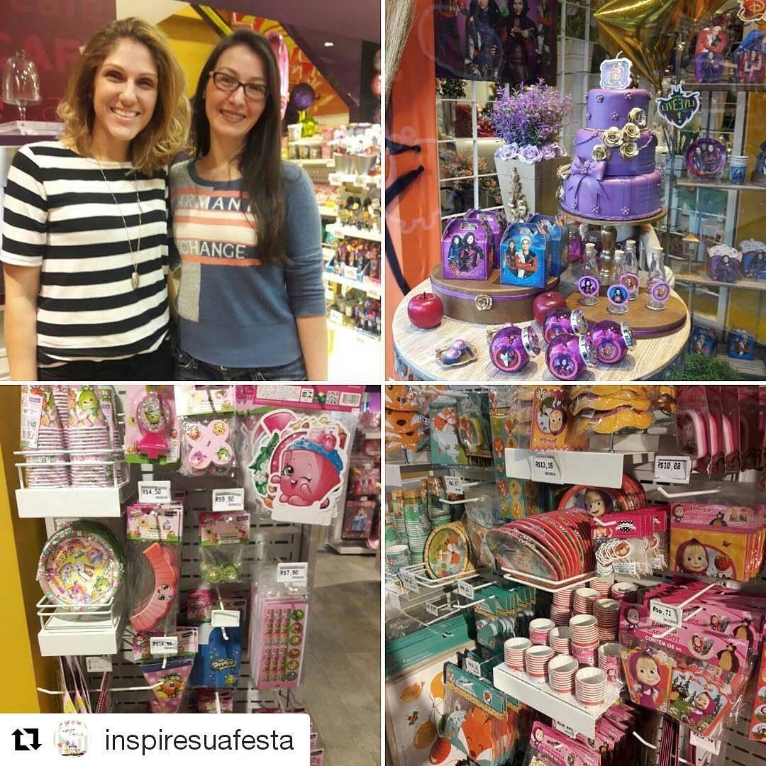 A Ana Paula do blog @inspiresuafesta veio conhecer a Loja Shér! e fez a festa com produtos da @reginafestasoficial! Na ...