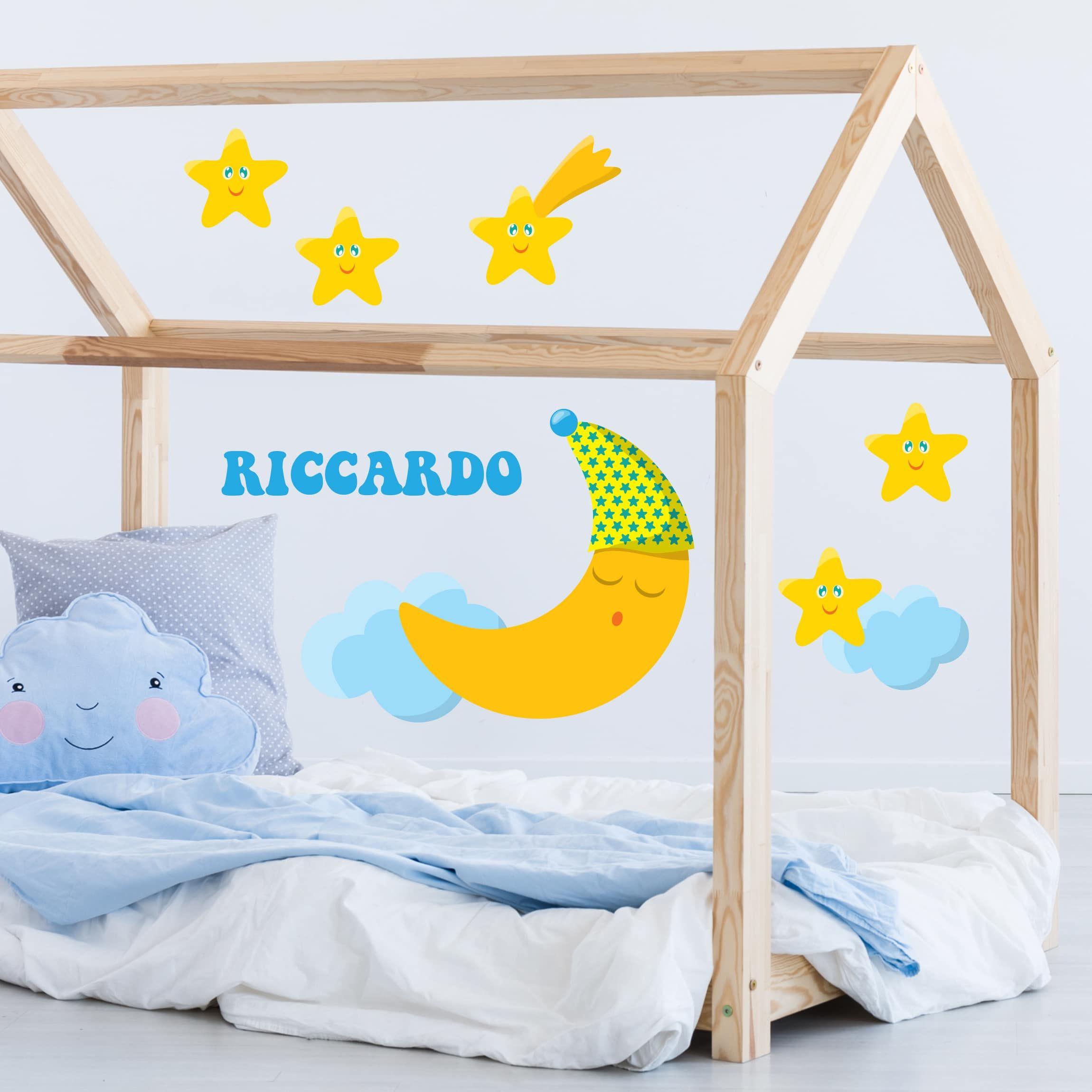 Adesivi murali neonati e bambini con nome personalizzato