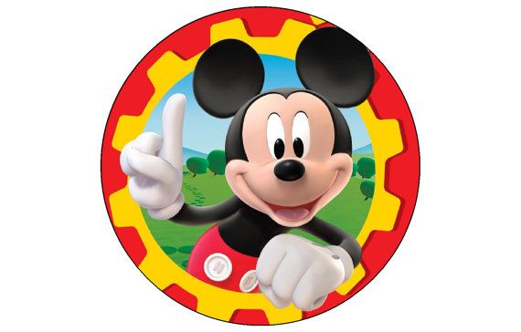 Mickey Mouse Clubhouse Edible Cake Cupcake Round Topper Decoration