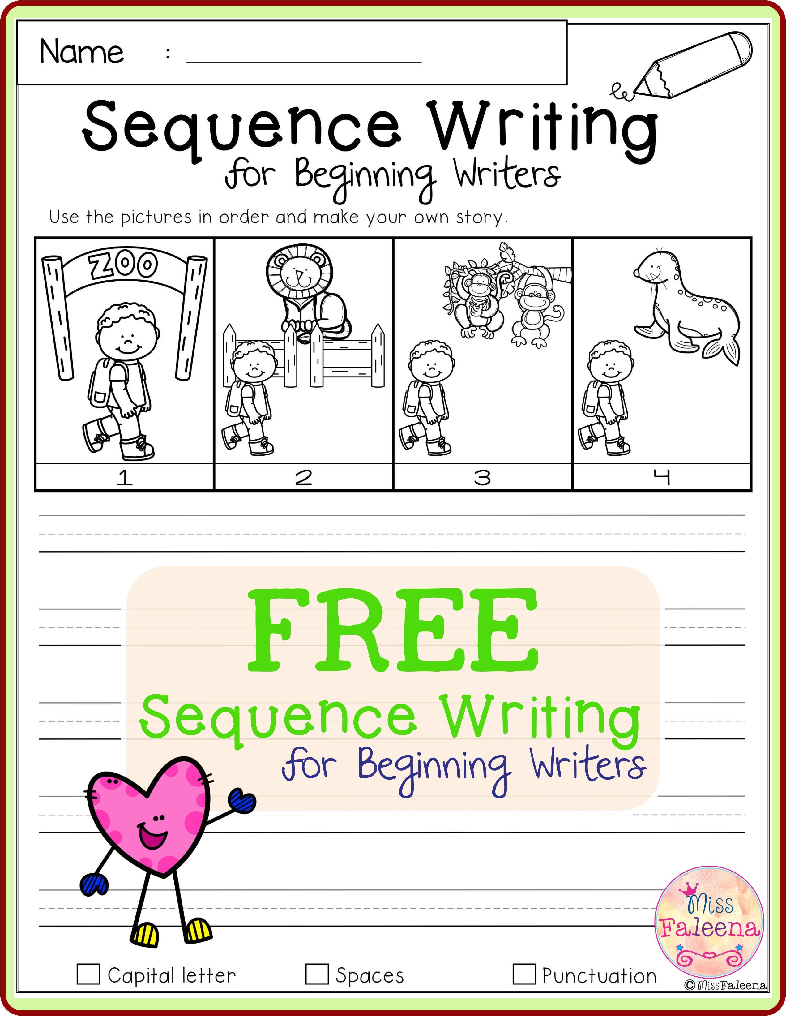 Free Sequence Writing For Beginning Writers Sequence Writing Writing Lessons Writing Skills [ 3284 x 2542 Pixel ]