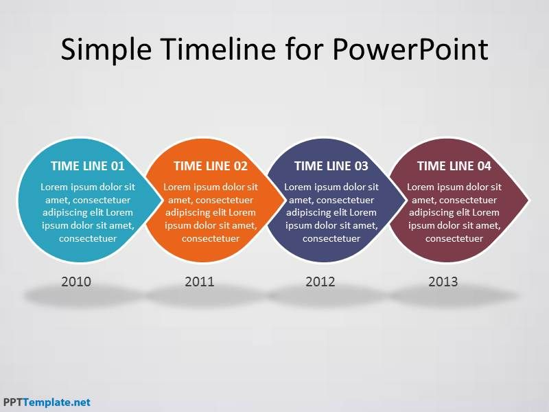 Download Free Timeline Template For PowerPoint Presentations With - Timeline template powerpoint 2010