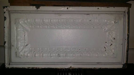 Vintage Tin Ceiling Tile 12 X 24 Salvage Material Tin Ceiling Tiles Tiles Ceiling