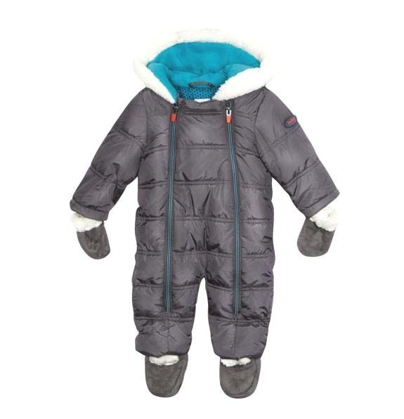 73ca61702 Ted Baker Baby Boys Wadded Snowsuit Mittens Booties Grey Designer 3-6 Months