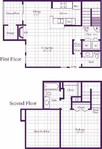 The Palm Floor Plan At The Woodland Hills Apartments In Irving Tx Floor Plans Unique Floor Plans Woodland Hills