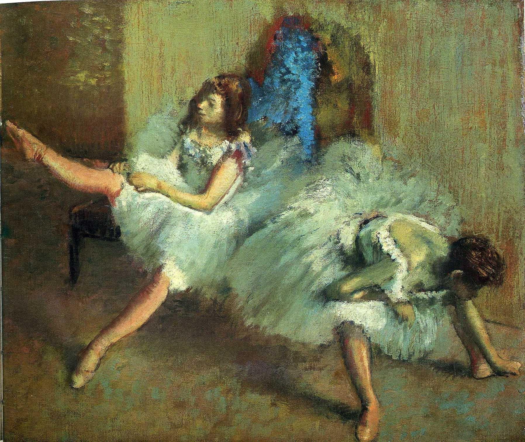 Edgar Degas paintings, art-Degas.com - Ballet Class, the