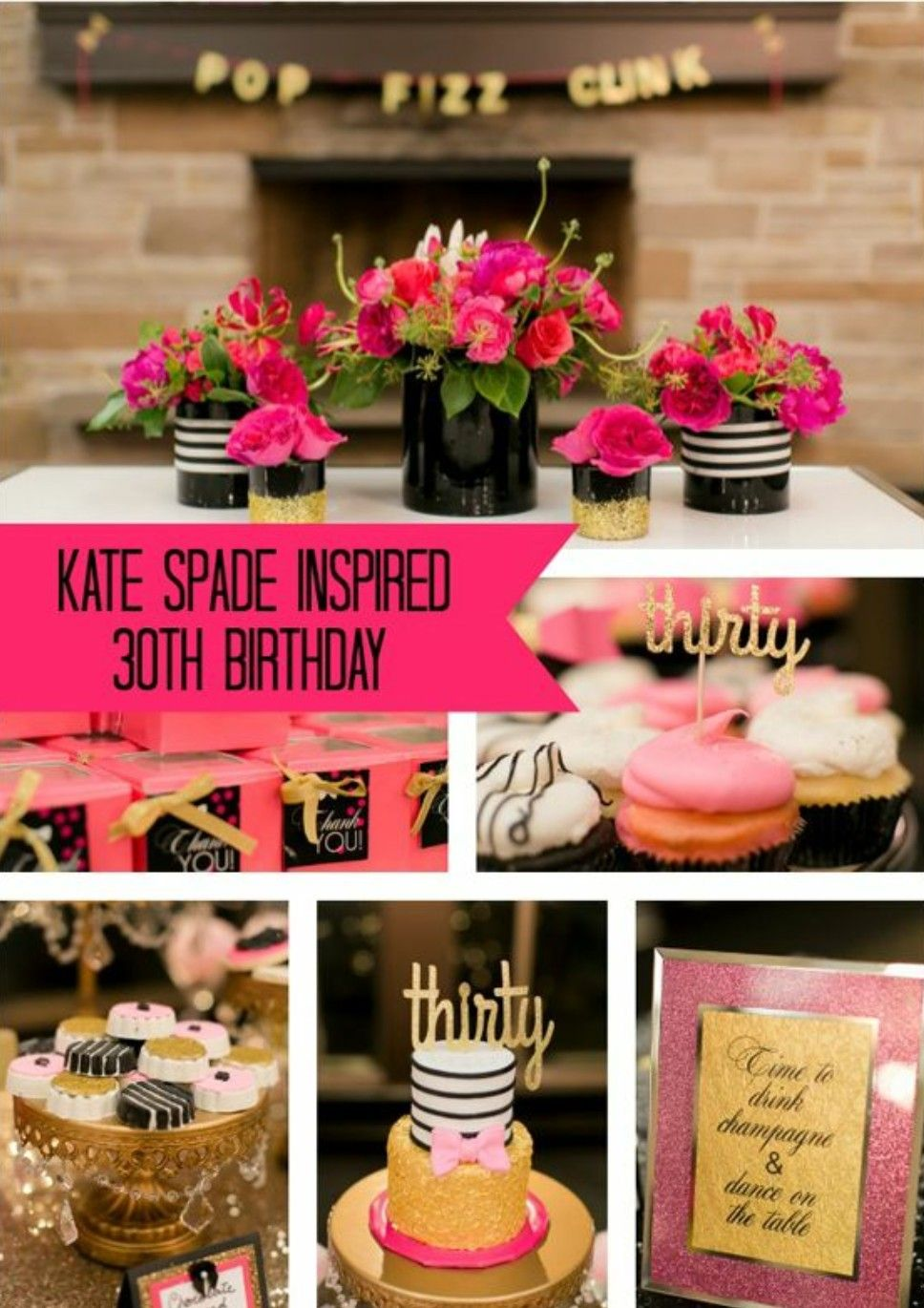 Kate Spade Inspired 30th Birthday Decor
