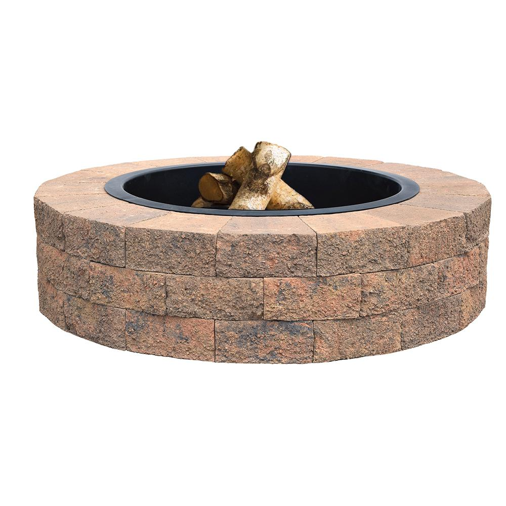 Oldcastle Countryside 48 In Tan Fire Pit Kit 70588237 The Home