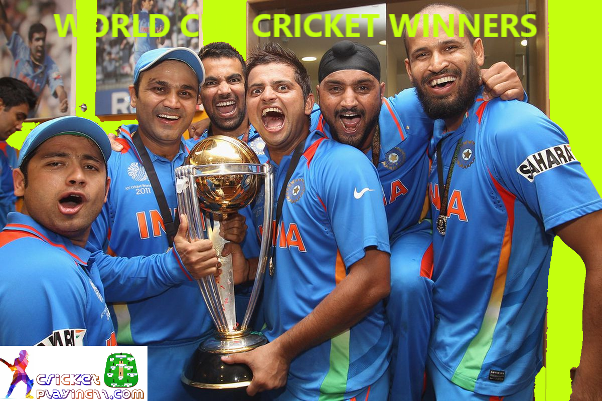 Cricket World Cup Winners 2019 Cricket World Cup Winners World Cup Winners Fantasy Team