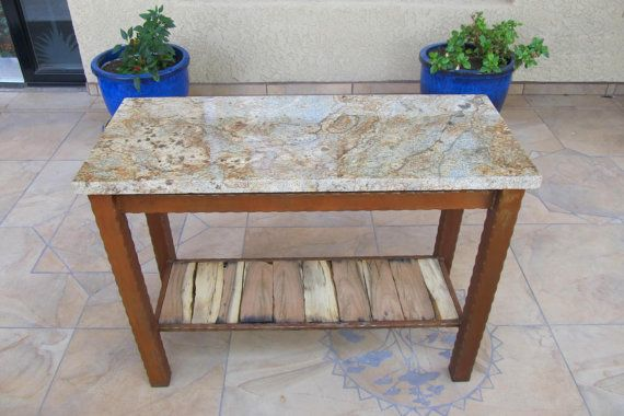 Granite Table, Mesquite Wood Table, Sofa Table, Granite Furnature