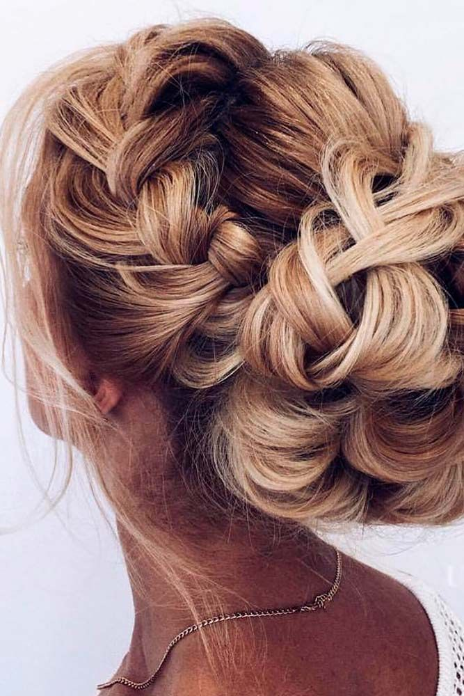 42 Braided Prom Hair Updos To Finish Your Fab Look Braided Hairstyles For Wedding Hair Styles Braided Prom Hair