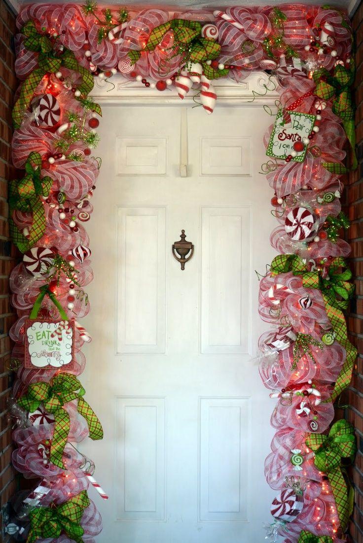 decoracion de puertas navidad 2015 buscar con google