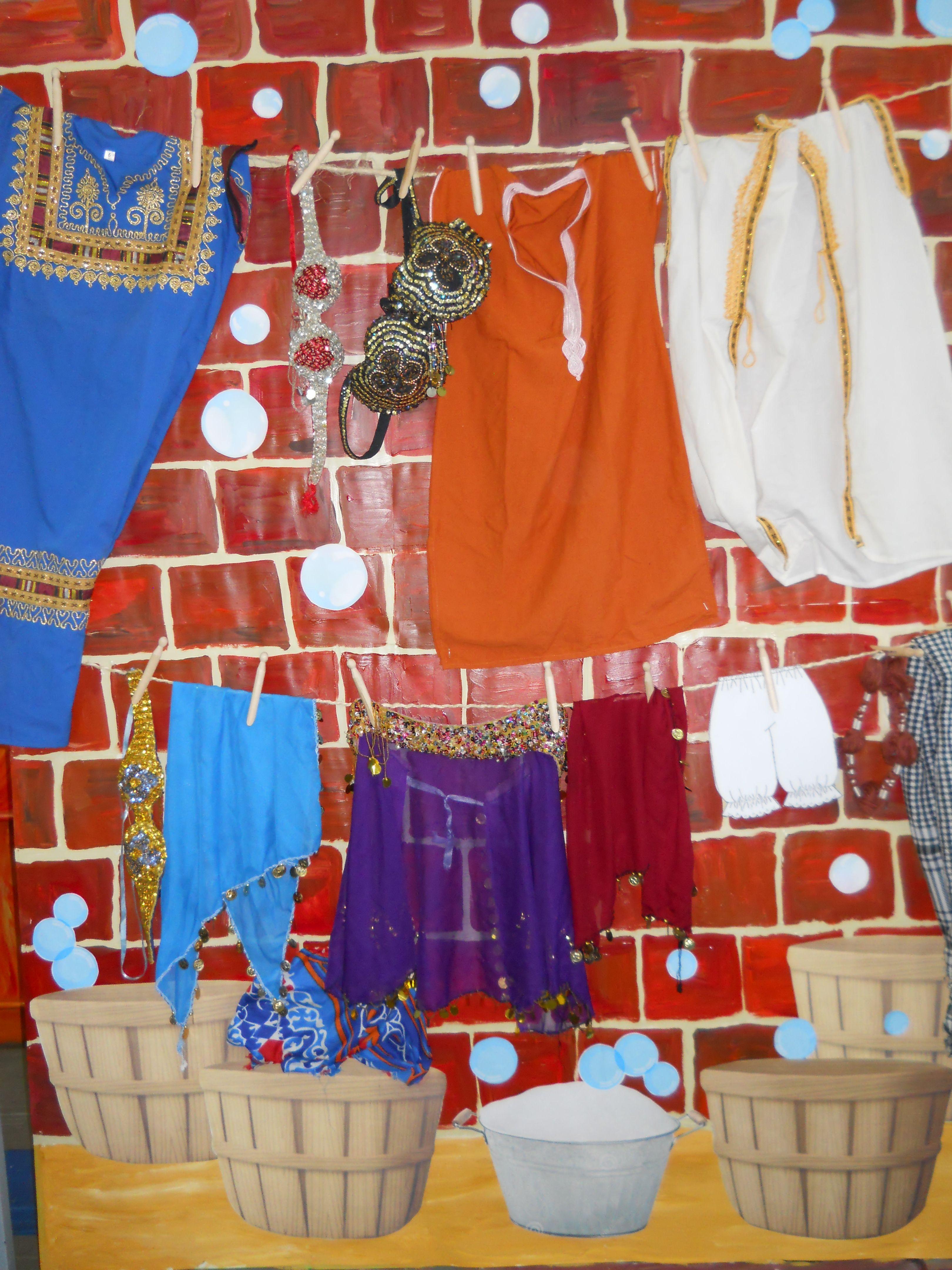 Middle School Production Aladdin Wishy Washy Laundry School
