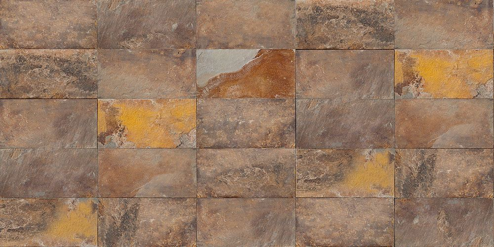 ARDOISE MULTICOLORE RUSTIQUE Ardoise multicolore marron avec des
