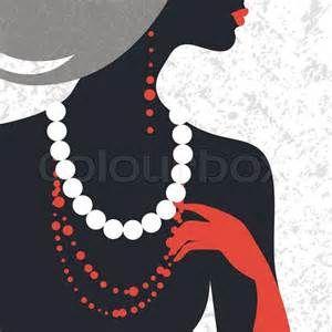 @mzhandpicked   inspiration for logo idea? Stock-Vektor von 'Schöne Mode Frau Silhouette Flache Bauweise'