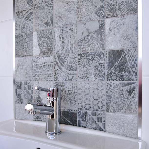 Vesta 10x10 Cm Mix Wall Pattern Tile Set By Yurtbay Ceramic Planet Badkamer