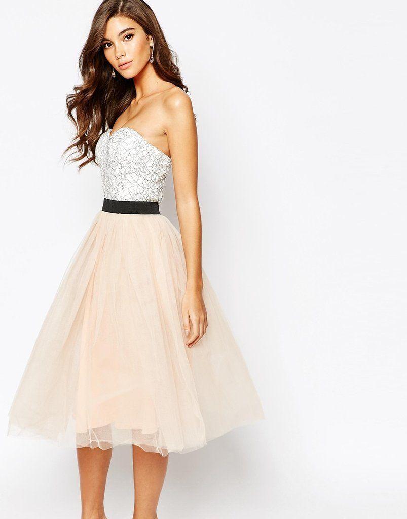 cb08a275cf Vestido bicolor con falda de tul – Cositas de España